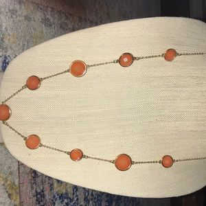 Jewelry - A  vintage rosy orange crystal Acrylic beads